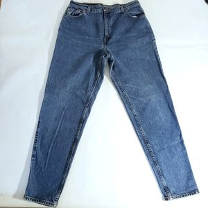 Levi's Vintage 551 MOM Jeans High Waist Relaxed Fit Tapered Long Size 16